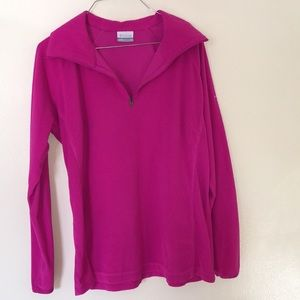 Pink Columbia 3/4 Zip Thin Fleece